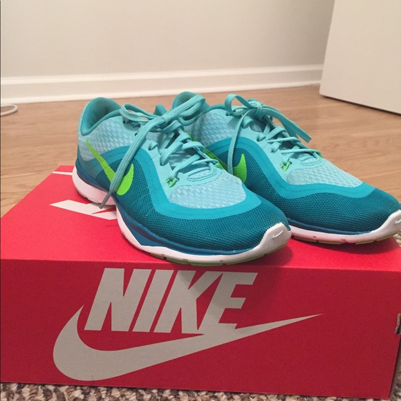 Nike Shoes Flex Trainer 6 Teal Green Blue Poshmark